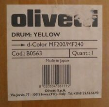 ORIGINALE Olivetti b0563 TAMBURO YELLOW PER D-COLOR mf200 mf240 Drum CARTONE C