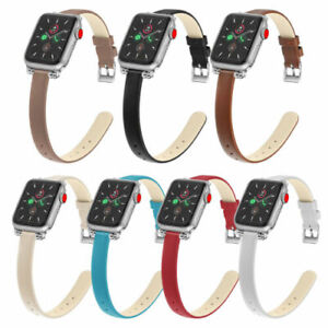 For iWatch Series 5 4 3 2 1 Leather Slim Thin Band Wrist Straps Replacement