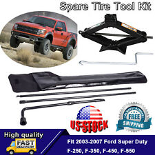 2 Ton Scissor Jack & Spare Tire Lug Wrench Portable Tool Kit For Ford 03-07 F250