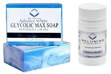 Relumins Advanced White Glycolic Max Soap + Relumins Glutathione Max Boosters