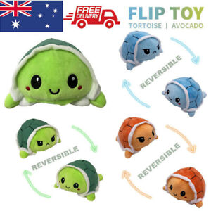 Cute Double-Sided Flip Reversible turtle Plush Toys Funny Animals Doll Gift