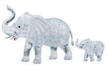 Neu Crystal Puzzle Elefantenpaar 46 Teile Kristallpuzzle Kristall Puzzle 3D!176