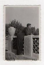 PHOTO ANCIENNE Snapshot Homme Pipe Portrait Theoule 1936 Profil Vintage