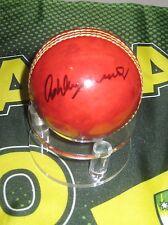 Ashley Mallett (Former Australian Test Player) signed Red Cricket Ball + Coa
