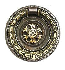 Hepplewhite French Empire Federal Brass round antique hardware Ring drawer pull