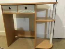 Compact Computer Desk with 2 Fold-able Storage Drawers - Wood