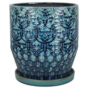 Trendspot Dia Ceramic Rivage Planter Bohemian 11.88lb Indoor Outdoor 10 inch Pot