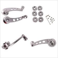 2x Silver Aluminium Car Window/Door Winder Handle Crank Knobs For Nissan Toyota