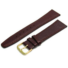 Gents Size Watch Strap Band Natural Grain Leather 20mm Brown g FREE UK Post