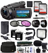 Sony FDR-AX33 4K HD Handycam Camcorder Video Camera + 128GB Accessories Bundle