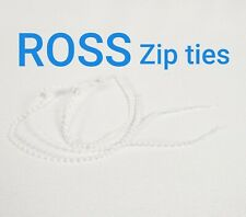 5x Ross Self-Locking Nylon Plastic Cable Zip Ties Wrap Wire Cord Clear White
