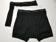 Calvin Klein Boxer Briefs - Large- Black - White - 3 Briefs