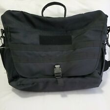 SOC Black Fabric Business Briefcase School Messenger Laptop Shoulder Bag