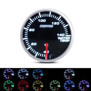 52mm Black 7 colors LED Display 12V Water Coolant Temperature Temp Gauge Meter
