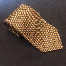 ROBERT TALBOTT MONSOURS Yellow Print Hand Sewn 100% Imported Silk Tie