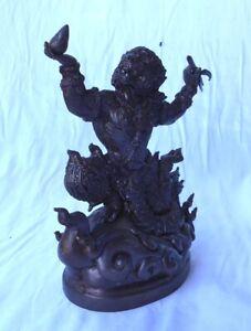 XL- Figur HANUMAN Hanumat Affengott Hindu 1,9 kg, 20x16x9 cm Deko Messing brass