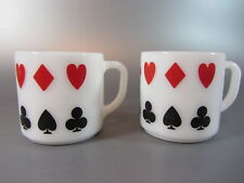 Vintage Federal MUGS 2 Retro Coffee Poker card Game Party