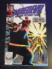 Daredevil#269 Incredible Condition 9.0(1989) Blob/Pyro Battle, Romita.jr Art!!