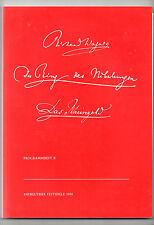 Programme( II ) Bayreuth 1988: Der Ring des Nibelungen - Das Rheingold - Wagner