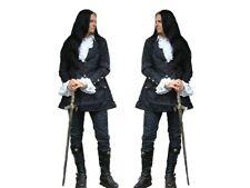 Gothic Mittelalter Punk Gehrock Jacke Mantel Vampir schwarz  M L XL XXL XXXL Neu
