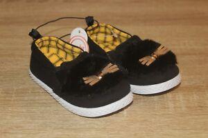 NEW Wonder Nation Infant Toddler Kitty Cat Shoes Casual Slip On Black