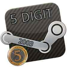 Steam Account * 5 Digit / 5 stellig * 14 Jahre / Years * 2003 + Original E-Mail