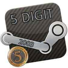 Steam Account * 5 Digit / 5 stellig * 13 Jahre / Years * 2003 + Original E-Mail