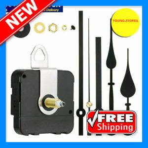 Silent Wall Clock Mechanism DIY Quartz Motor Movement Long Spindle Repair Kit JK