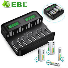More details for ebl lcd universal battery charger for aa aaa c d rechargeable batteries