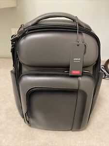 NWT Tumi Arrive Exclusive Barker Backpack Bag in Grey Leather  $1200, NWT