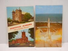 Vintage Post Cards - Huntsville, Alabama-City of Beautiful Churches, NASA Saturn