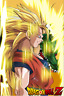 Dragon Ball Z Poster Goku SSJ 3 Profile 12inches x 18inches Free Shipping