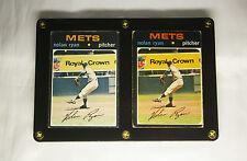 Lot (2) 1971 Nolan Ryan baseball cards Topps + O Pee Chee OPC Old New York Mets