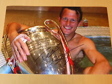 Signed Teddy Sheringham Manchester United FC 12x8 Photo - 1999 Treble Winners