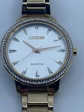 CITIZEN Silhouette Crystal Silver Dial Ladies Watch FE7043-55A