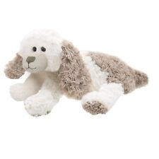 Lashuma Plüschtier Hund liegend Kuscheltier Welpe Stofftier beige braun ca.35cm