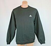 Vintage Vtg 90's Adidas Sweatshirt Mens Size Medium Trefoil Black NWOT NEW