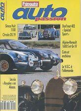 AUTO PASSION n°40 10/1990 A110 1600S & Gr4 DARL'MAT 402 SIMCA8 1100 DS19