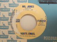Scott Engel 45 ANYTHING WILL DO bw MR.JONES   Liberty VG to VG+