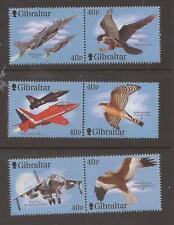 Gibraltar 2001 Wings of Prey  (3rd series)MNH