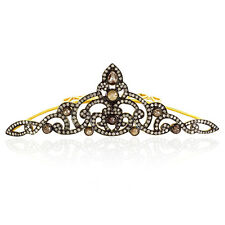 Slice Diamond Sterling Silver Antique Look Tiara Women's Gift Jewelry