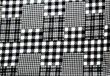 GLACIER BLACK AND WHITE PATCH PLAID FLEECE FABRIC MATERIAL 3 YD 60 X 108""