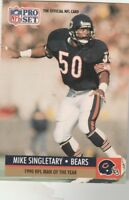 FREE SHIPPING-MINT-1991 Pro Set  #5 Mike Singletary BEARS NFL MAN OF THE YEAR