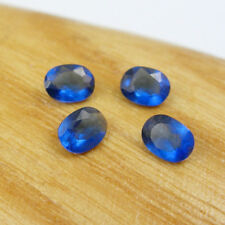 Qty 4 Pieces Ceylon Sapphire 4x3mm Oval Strong Blue Color Total 0.54 carats, L#2