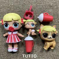 LOL Surprise Doll Cheer Captain & Lil Captain Cheer Sister & Cheer Rara Pet Toys