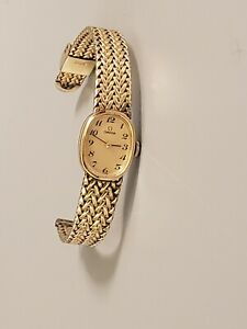 OMEGA Vtg Women's Watch 10k Gold Filled Swiss Mechanical 17 Jewels Runs Great