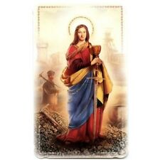 Heiligenbildchen Glitzer Heilige Barbara Bergleute 10,6 x 6,4 cm HBG 5004