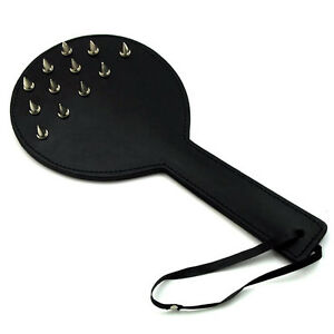 Heavy studded paddle (SP-33-LEATHER), FREE UK DELIVERY