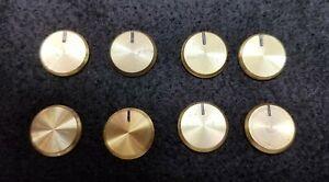 Original Fisher Brass Knob Cap Set  500-C 800-C Tube Receivers or FM-1000 Tuner
