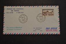 lettre 1 ere liaison NICE ATHENES  1968